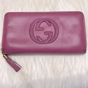 GUCCI SOHO GG Zip Around Wallet